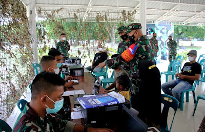 Pastikan Tertib dan Lancar, Dandim 0101/Aceh Besar Tinjau Pelaksanaan Vaksinasi