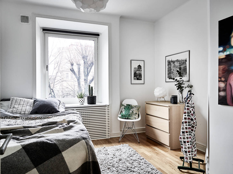 dormitorio apartamento nórdico