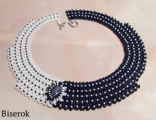 Black And White Domino Beaded Necklace Tutorial The Beading Best Beaded Necklace Patterns