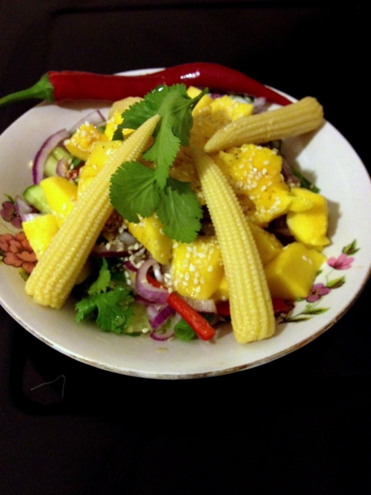 Patlamış mısırlı mango salatası tarifi