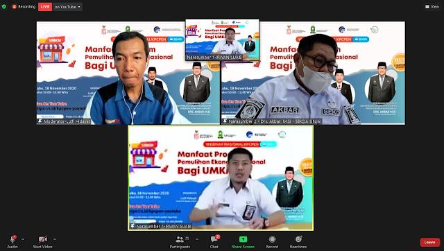 KPCPEN Gelar Webinar Pemulihan Ekonomi UMKM