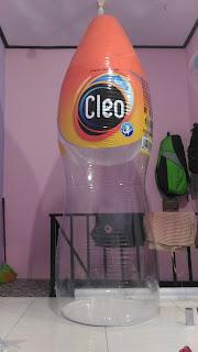 balon botol cleo ~balon promosi