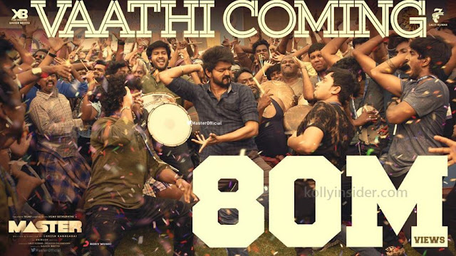Thalapathy Vijay's Vaathi Coming reaches 80 million views