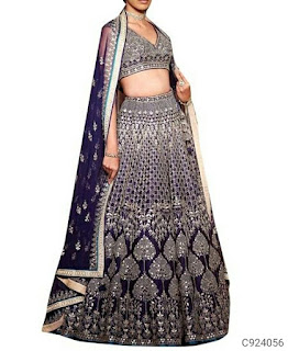 Fancy Taffeta Silk Embroidery Lehengas