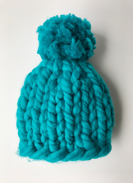 CHUNKY KNITS HAT - TEAL
