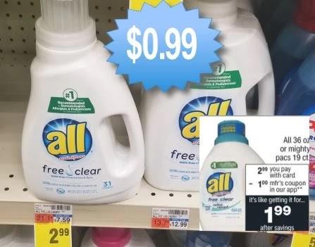 Cheap All Laundry Detergent CVS Deals 3/21-3/27