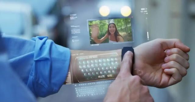 Ponsel Hologram Produk Teknologi Modern