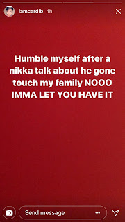 Cardi B Instagram Khalil Beef