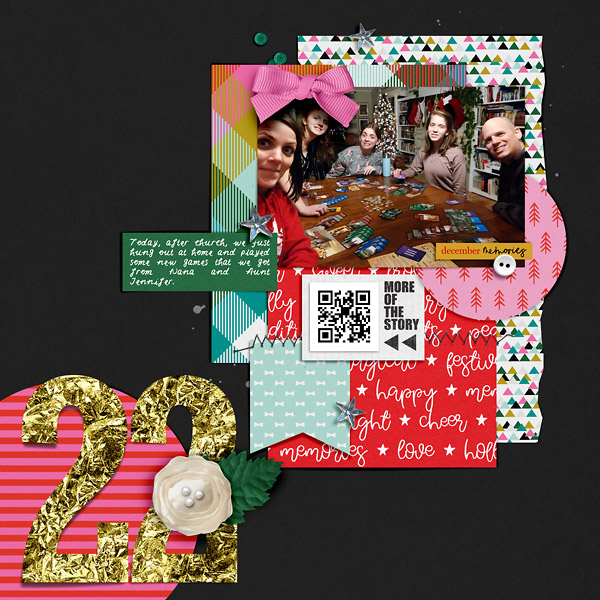 Digital Scrapbook page Document Your December day 22