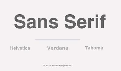 typeface sans serif