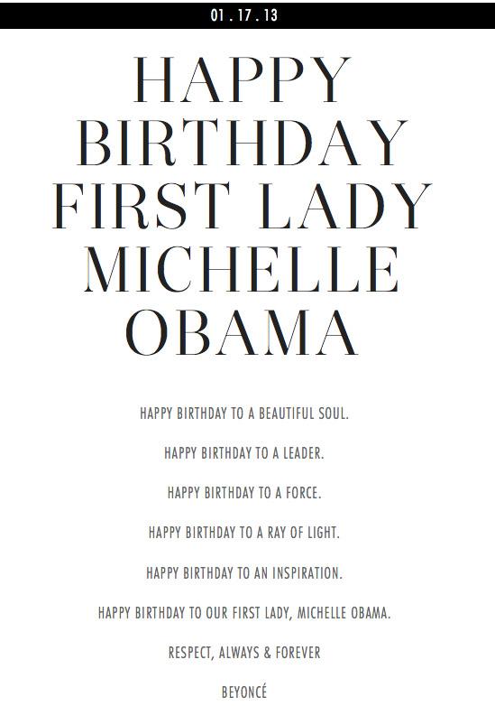 beyonce michelle obama birthday poem