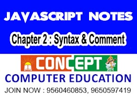 Chapter 2 : JavaScript Syntax & Commenting