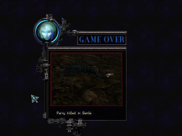 Anachronox game over screen