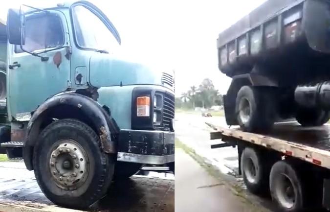 VÍDEO: PRF flagra idoso conduzindo caminhão em mau estado de conservação na Bahia