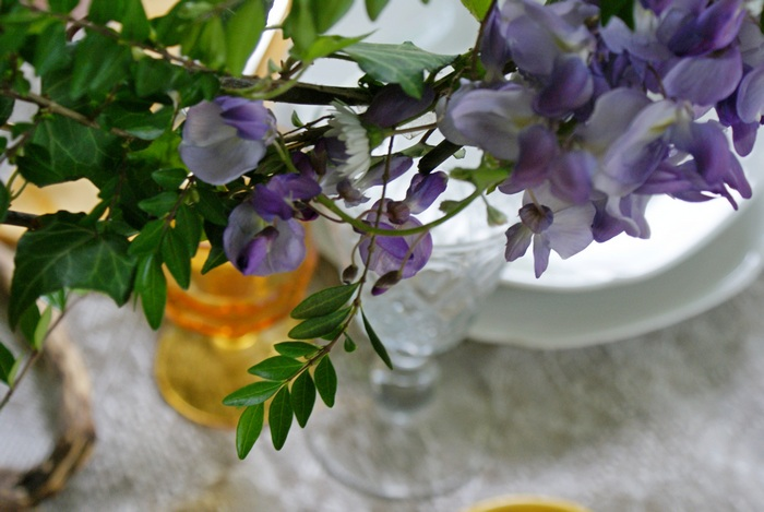 wisteria glicine table tavola decor