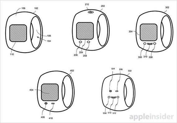 Apple Inc Smart Ring with touchscreen