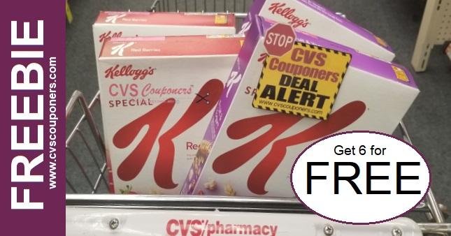 FREE Kellogg's Cereal at CVS 1-12-1-18