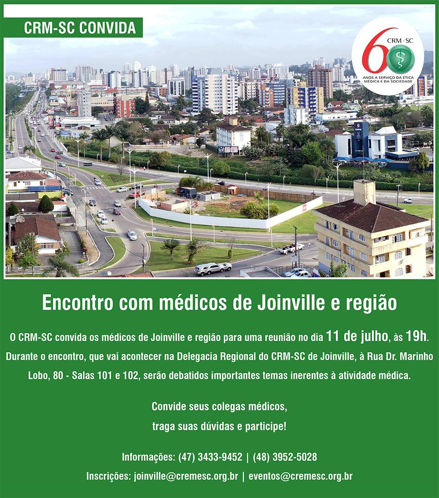 ed111f780ce9b Diretoria do CRM-SC vai a Joinville para reunião, dia 11 04 07 2018