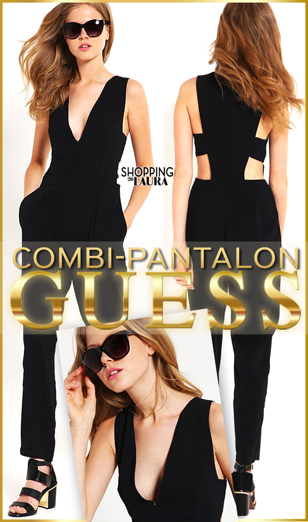 Combinaison pantalon femme noire GUESS