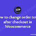 How to change order total after checkout in Woocommerce