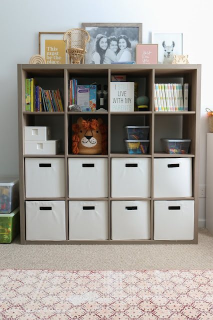 A Boho Modern Playroom Refresh and Tips to Declutter Toys
