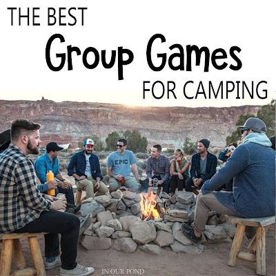 Best Group Games for Camping // Party Through the USA // games for kids and families // games with won't blow away // games that can be washed