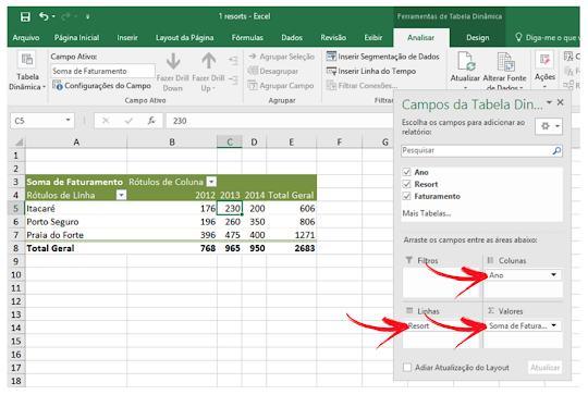 Atirei o Pau no Gráfico: Tabela Dinâmica do Excel 1 ...