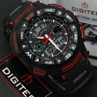 Jam tangan Digitec tali hitam