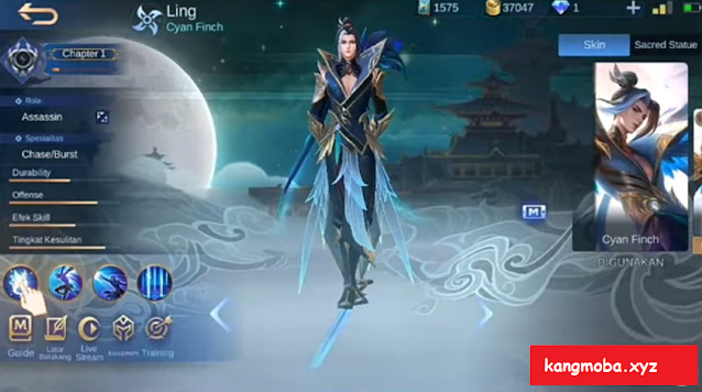 Script Skin Ling Collector Serene Plume Full Effect Mobile Legends