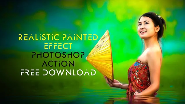 Realistic Painting FX Photoshop Action free Download