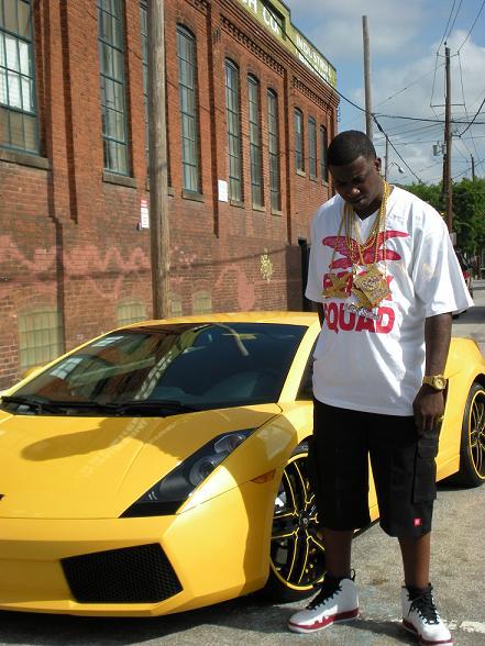 Gucci Mane Yellow Ferrari Celebrities Cars