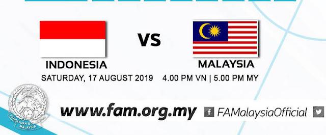 Live Streaming Indonesia vs Malaysia AFF U18 (17.8.2019)