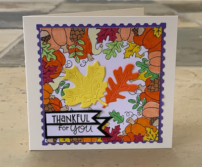 Thankful for you by Sherri features Fall Fringe and Autumn Leaves by Newton's Nook Designs; #newtonsnook
