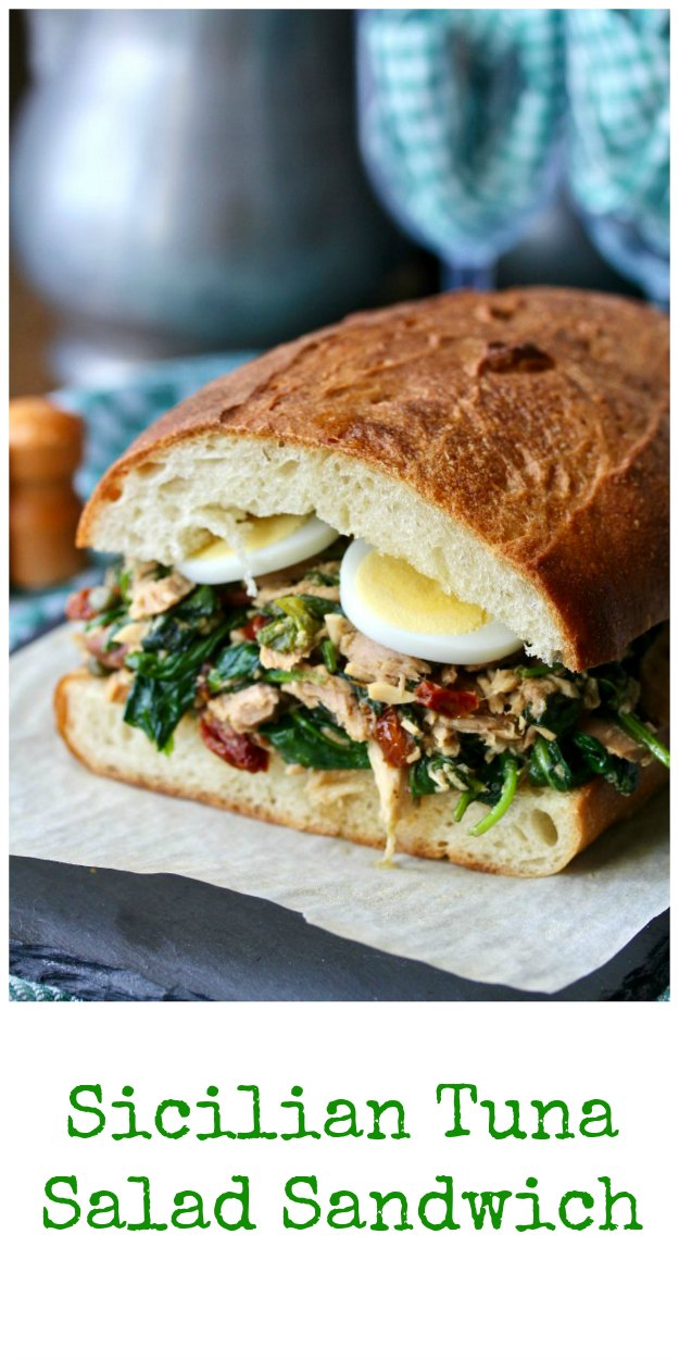 Sicilian Tuna Salad Sandwich on Italian-Style Bread