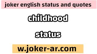 top 52 childhood status 2021 - joker english