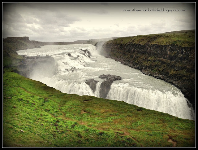 Iceland waterfall, Golden Circle tour waterfall Iceland