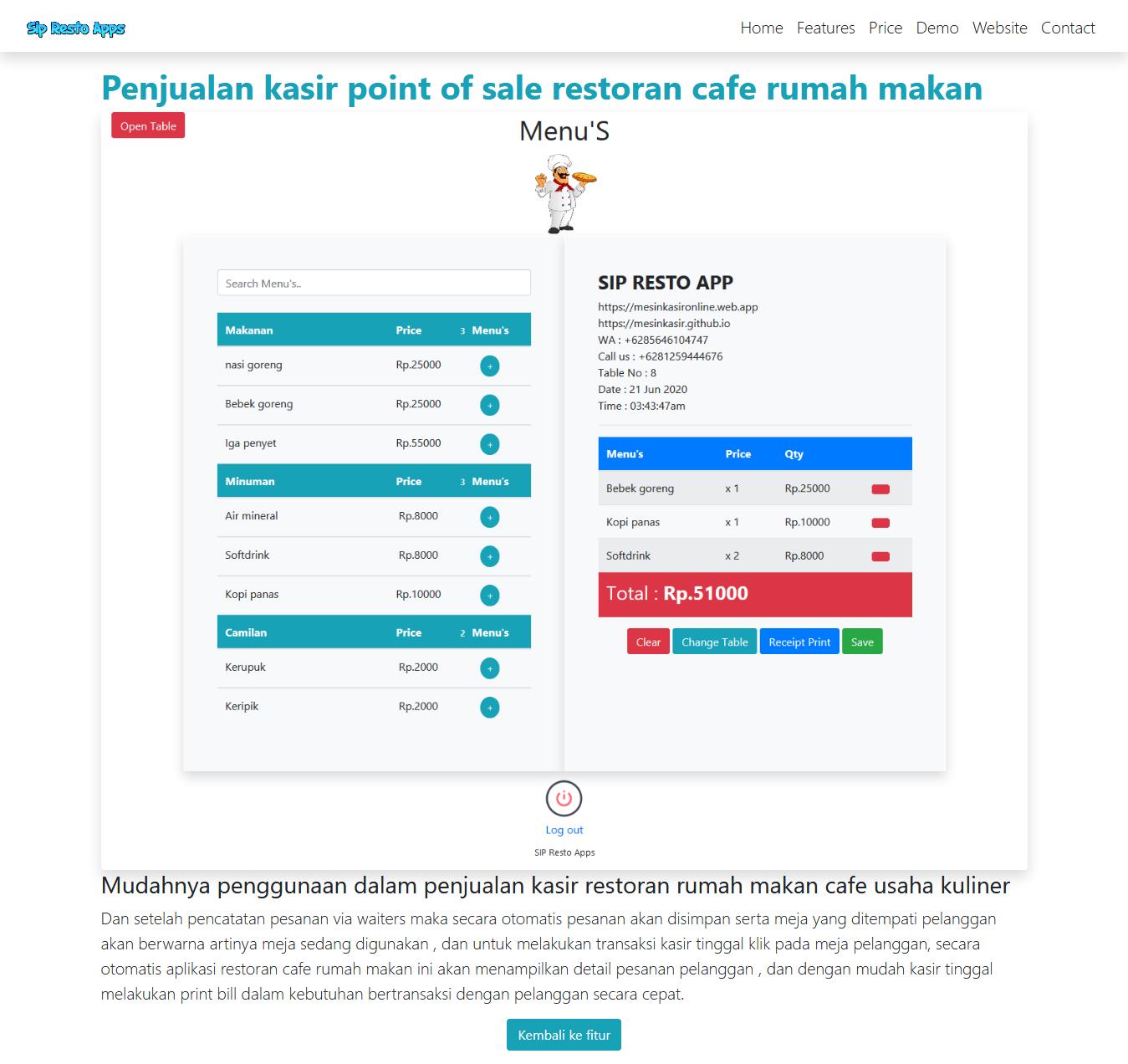 free download source code gratis react website template themes restoran