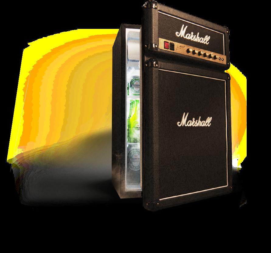 Der Marshall Mini Kühlschrank | Sich im Office wie ein Rockstar ...