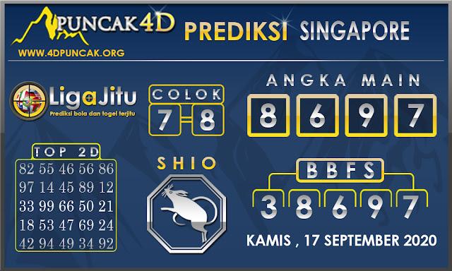 PREDIKSI TOGEL SINGAPORE PUNCAK4D 17 SEPTEMBER 2020