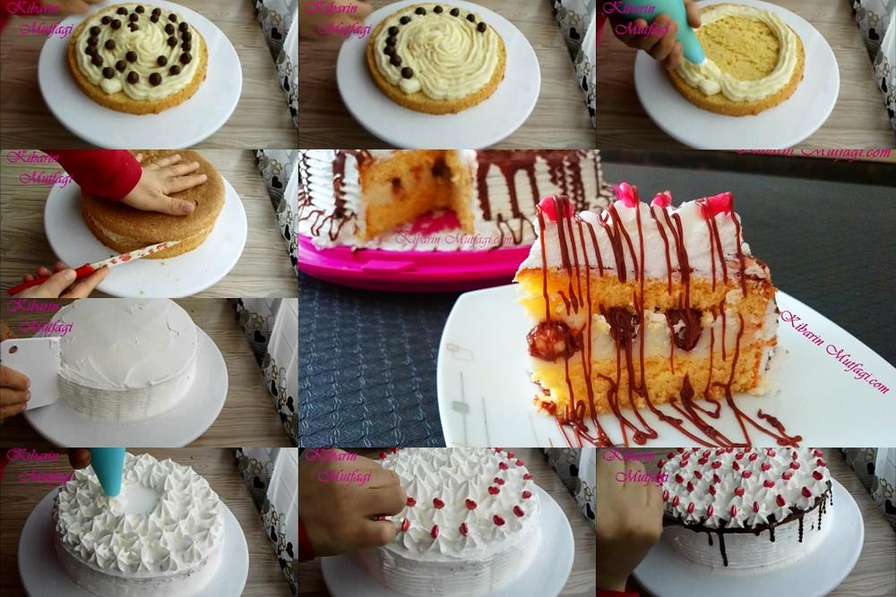 kolay kalpli yaş pasta tarifi