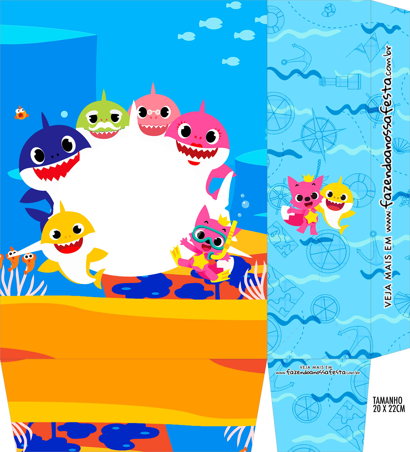 baby shark party free printable boxes