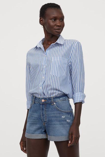 H&M conscious denim shorts boyfriend