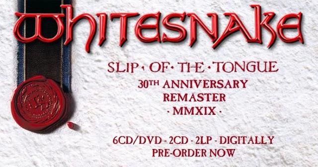 """Box especial comemora os 30 anos do álbum """"Slip of the Tongue"""" da banda Whitesnake"""