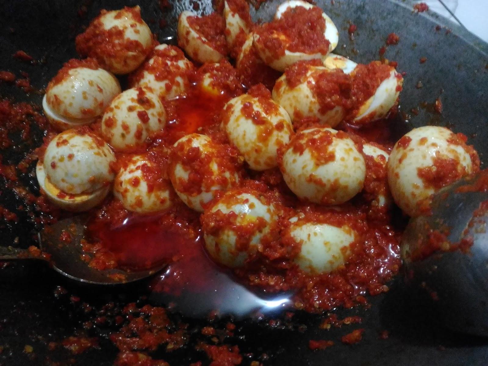Sambalado Telur Pedas