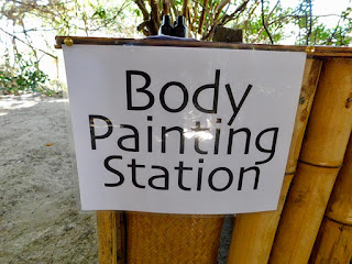 what's new, body painting, body painting station, paya bay resort, fun, activity,