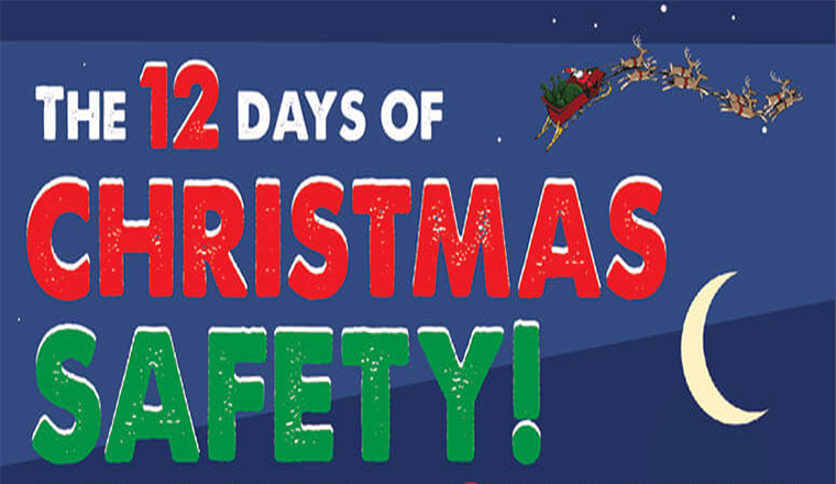 The 12 Days of Christmas Safety #infographic