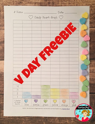 Candy Hearts Graphing Freebie