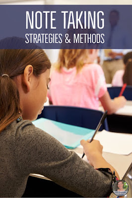 Middle and High School Note Taking Tips To Make Teaching Easier!  #methods #strategies