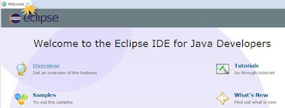 eclipse ide welcome screen