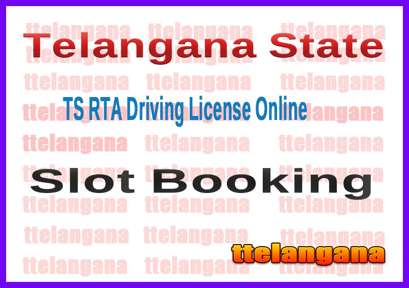 TS RTA Driving License Online Learner License Slot Booking